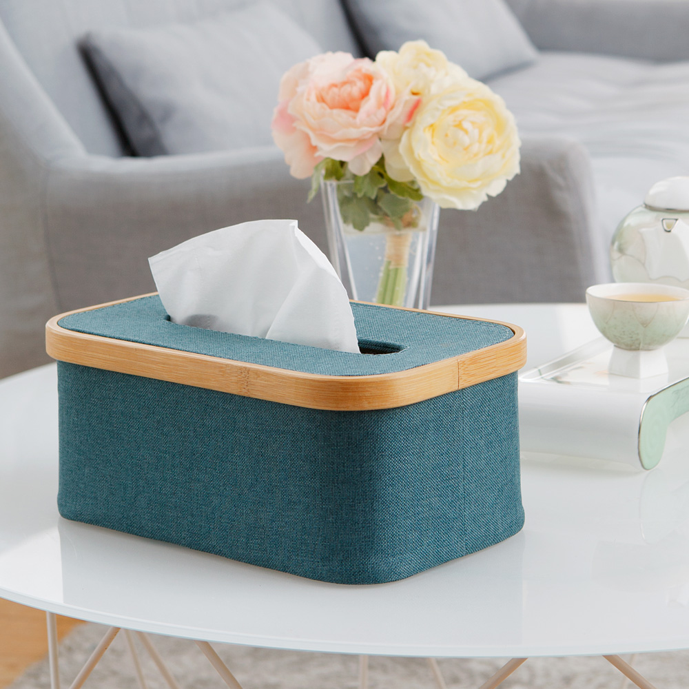 bencross本心本來|方形餐巾紙盒 -藍綠色
