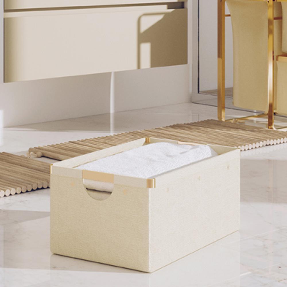 bencross本心本來 米金色鋁合金折疊收納盒