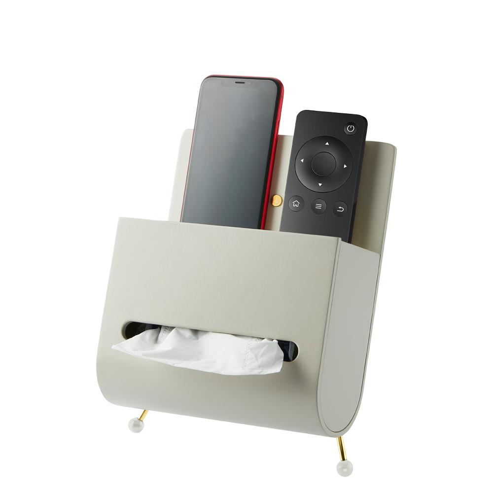bencross本心本來|搖控器衛生紙收納盒架-亮金/灰色