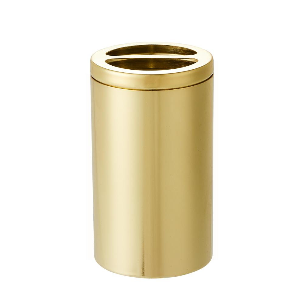 bencross本心本來 不鏽鋼牙刷牙膏架-亮金色