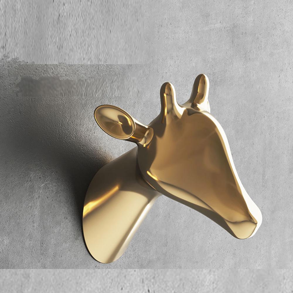 bencross本心本來|淺亮金鋅合金掛鉤-長頸鹿