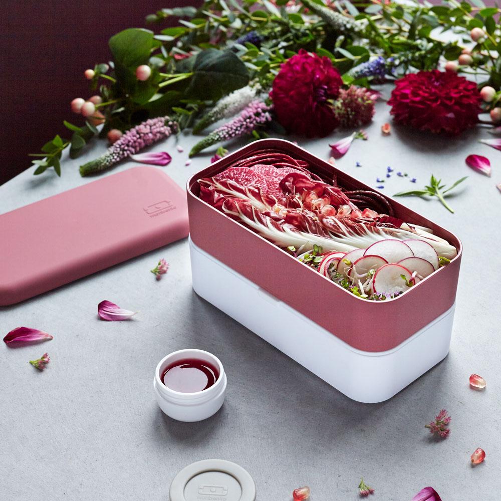 MONBENTO|原創雙層便當盒-玫瑰豆沙色