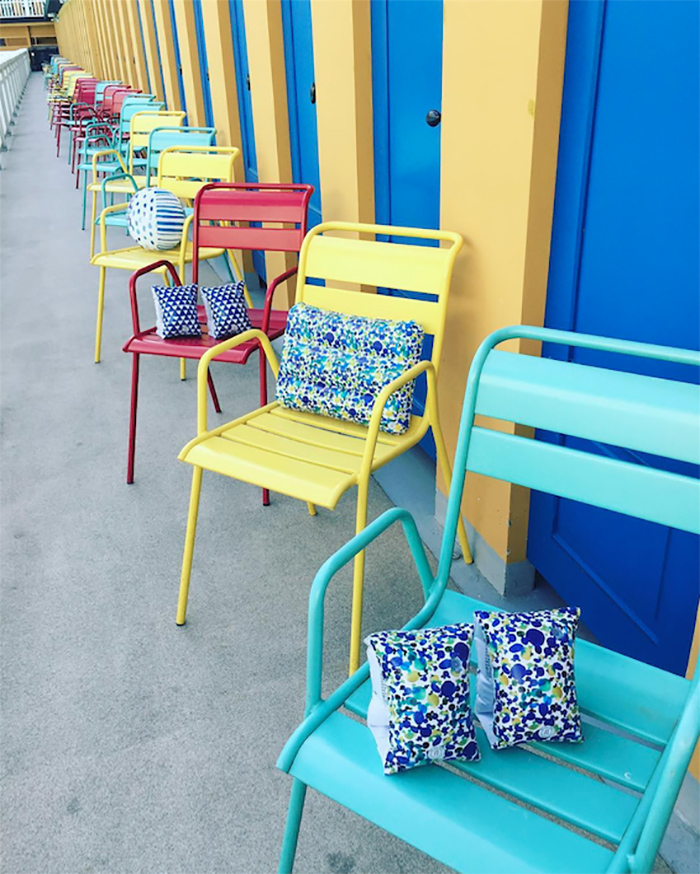 The nice fleet|黃藍斑點海灘枕