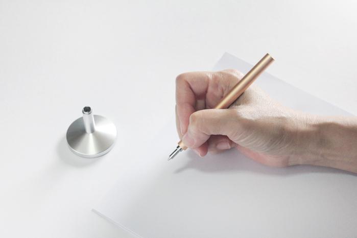 TEN|座檯與便攜鋼珠筆 - 銀