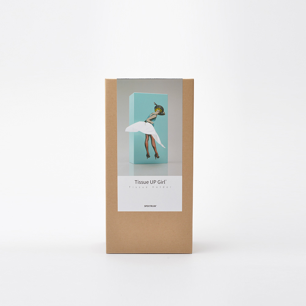 SPEXTRUM 蓬蓬裙女郎面紙盒(翡翠色)