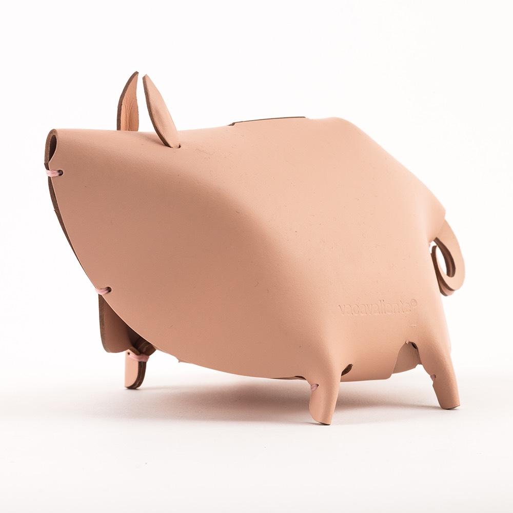 Vacavaliente 小豬造型皮革收納擺飾(粉)