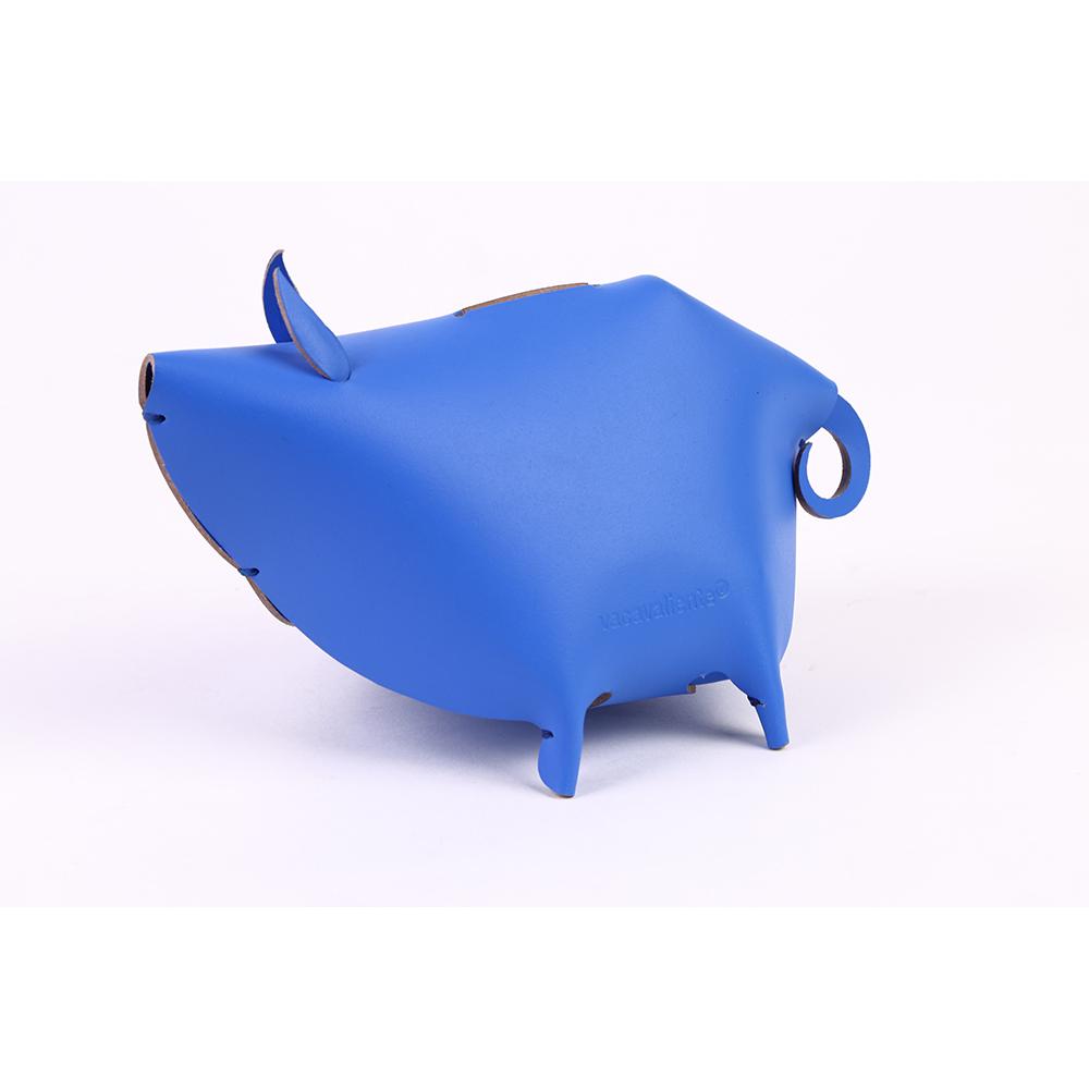 Vacavaliente|小豬造型皮革收納擺飾(藍)