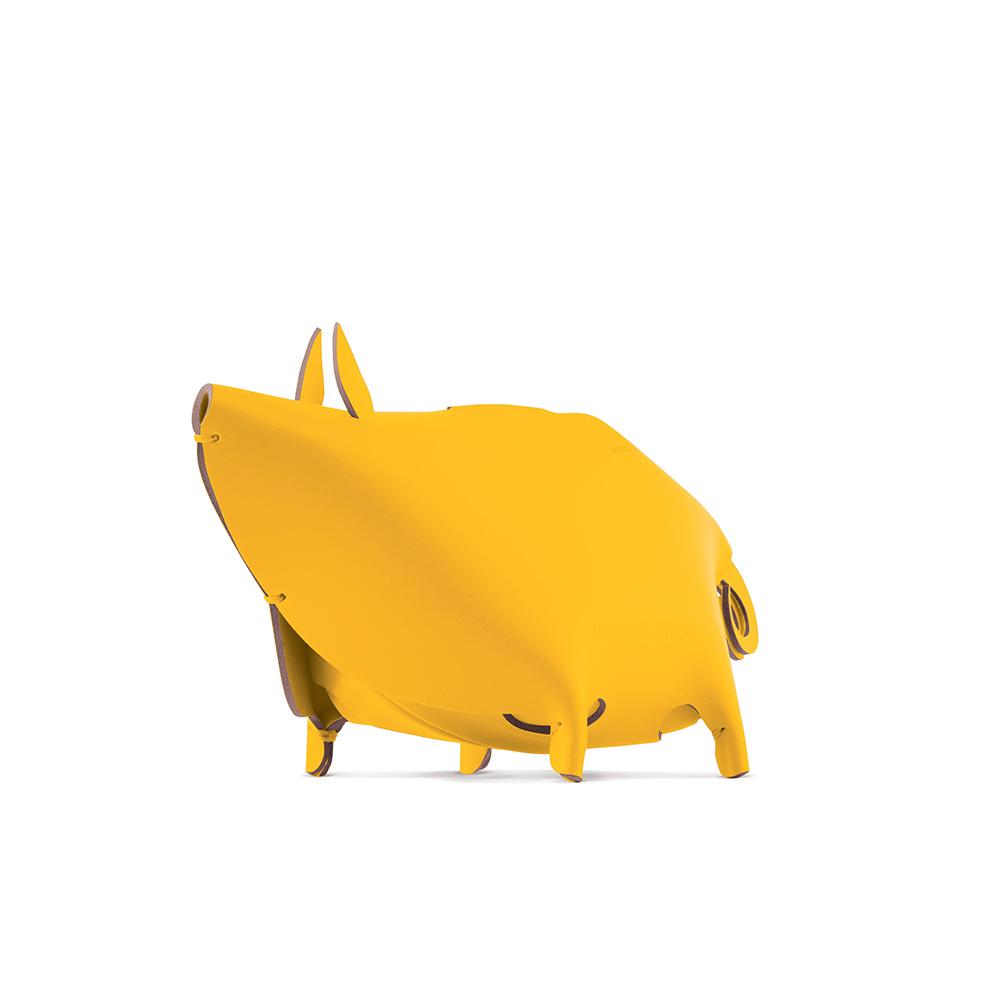 Vacavaliente|小豬造型皮革收納擺飾(黃)