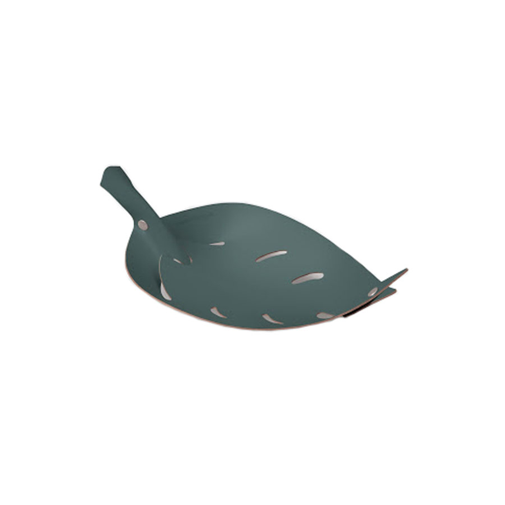Vacavaliente|葉子造型皮革收納擺件(灰綠)