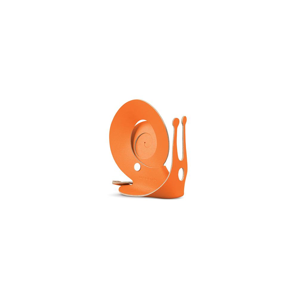 Vacavaliente|蝸牛造型皮革收納擺飾(橘)