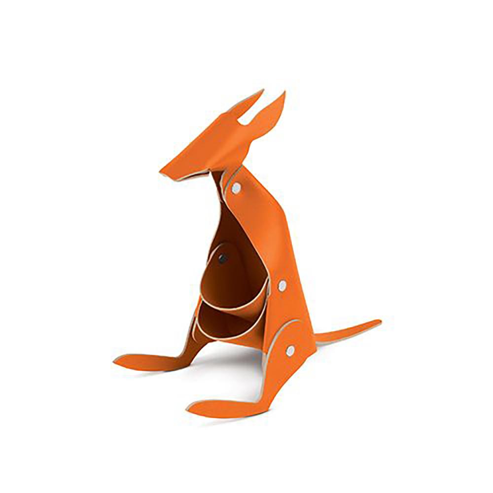 Vacavaliente|袋鼠造型皮革擺飾(橘)