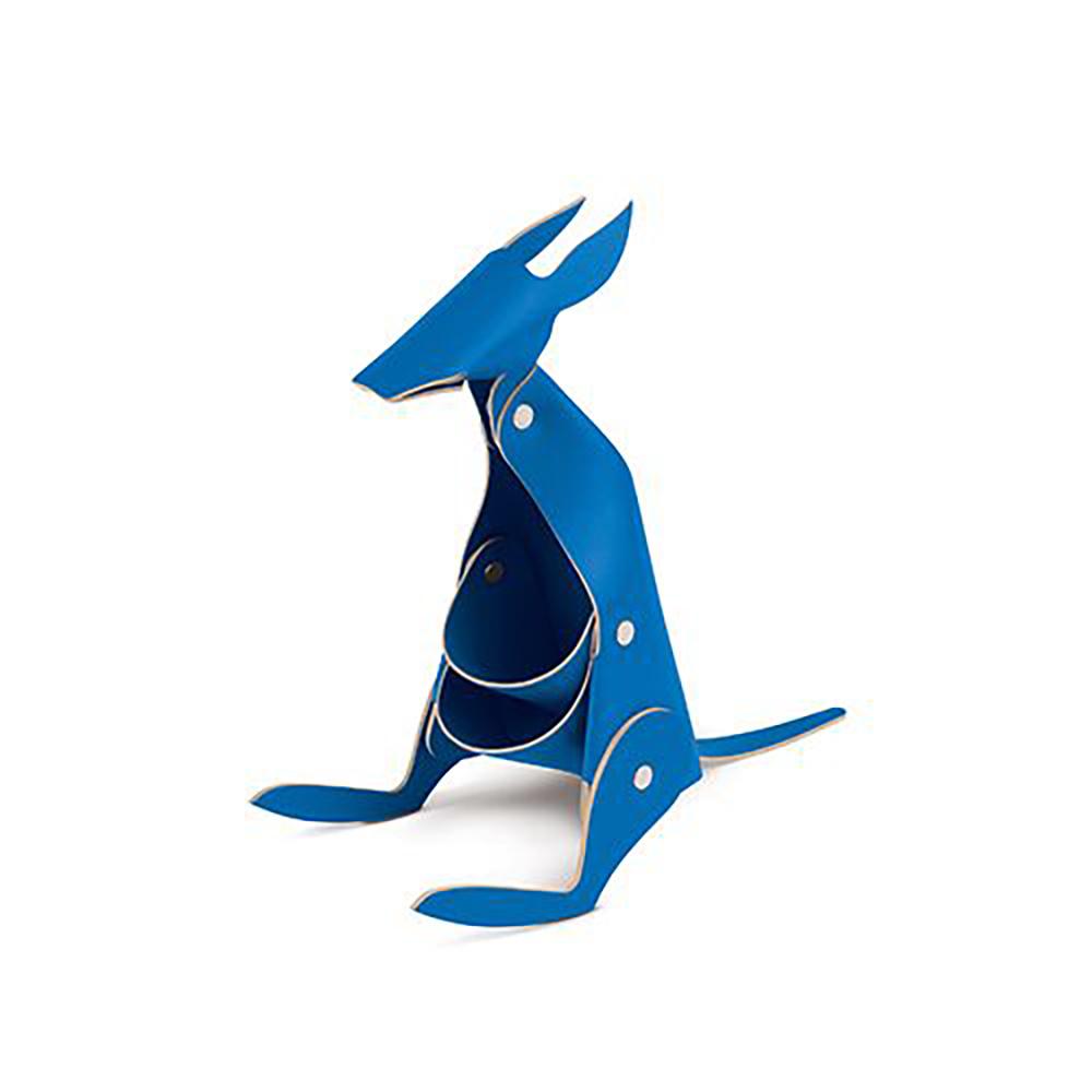 Vacavaliente 袋鼠造型皮革擺飾(藍)