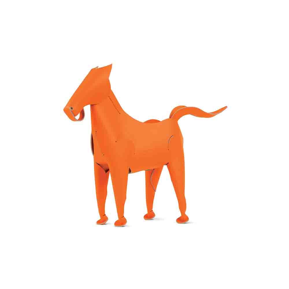 Vacavaliente|馬造型皮革擺飾(橘)