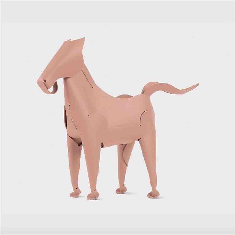 Vacavaliente|馬造型皮革擺飾(粉)