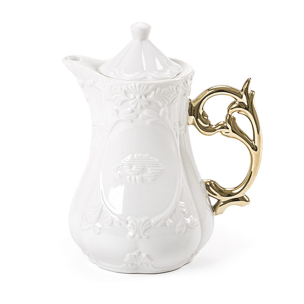 Seletti|金色把手古典茶壺