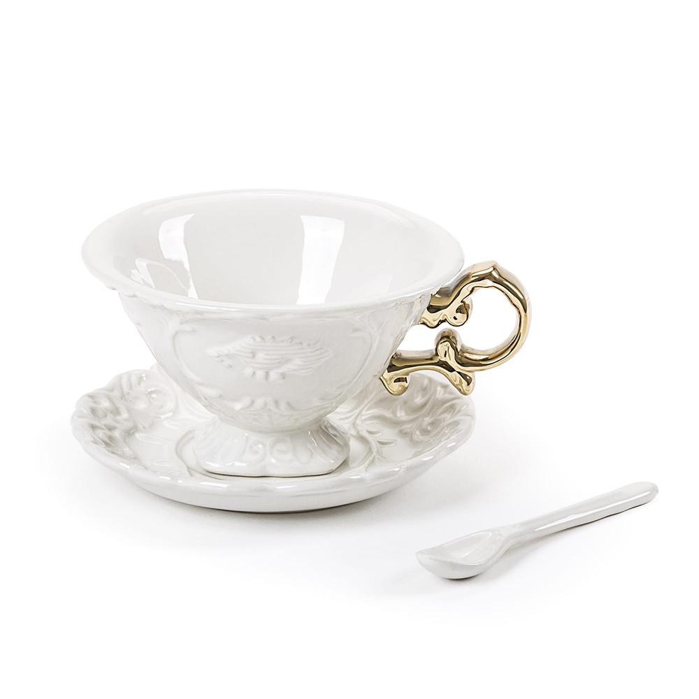 Seletti|金色把手古典茶杯