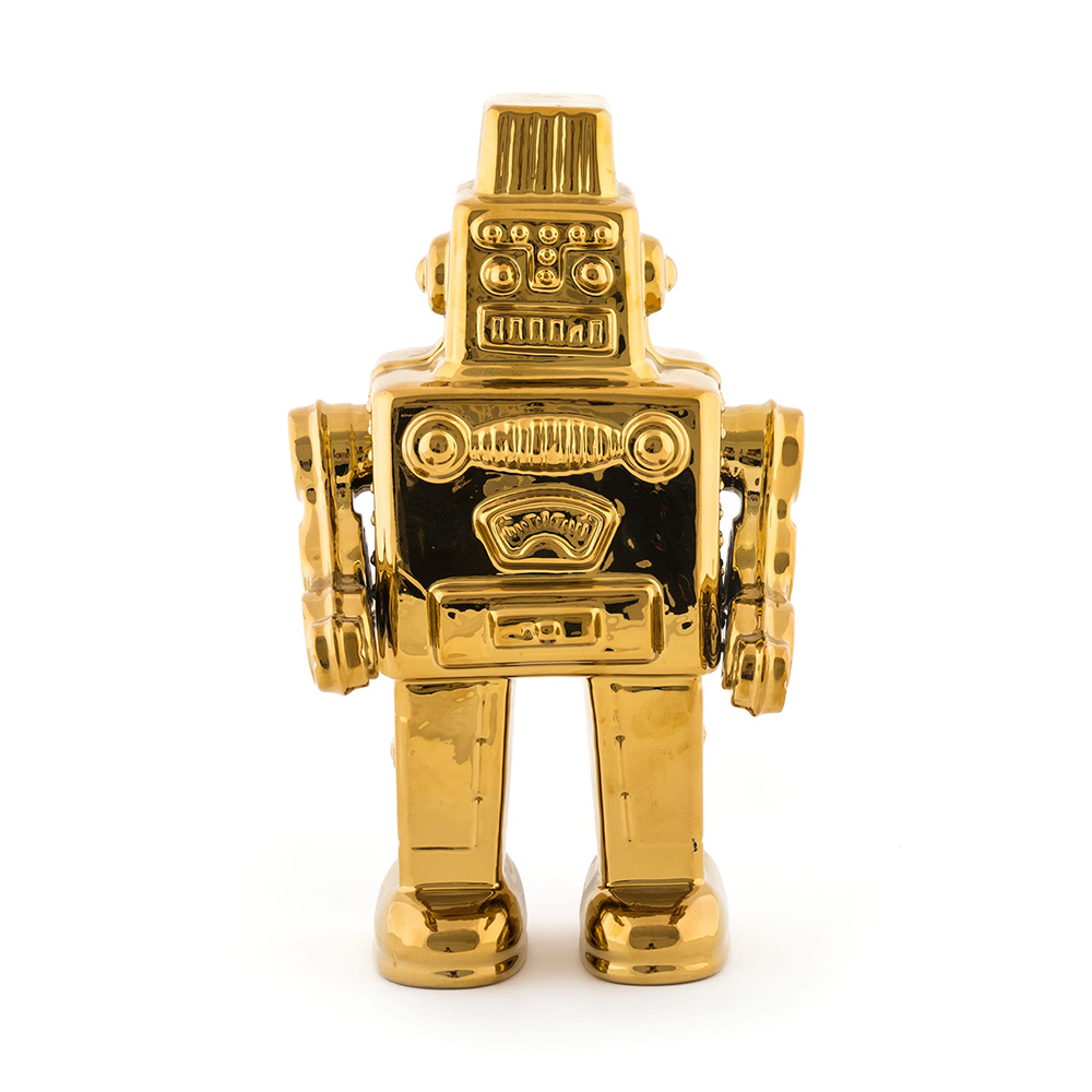 Seletti 金色機器人造型擺件