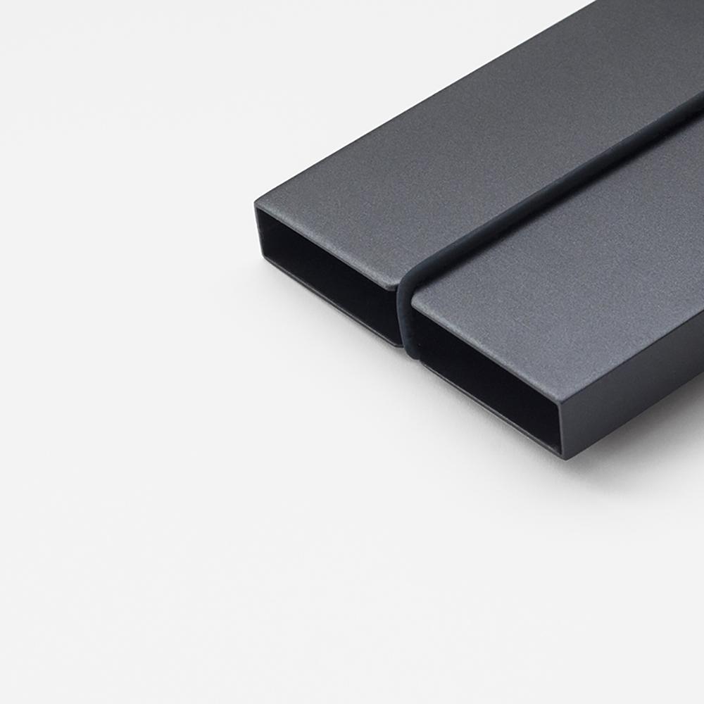TEN 自動式鋁合金名片盒 - 黑