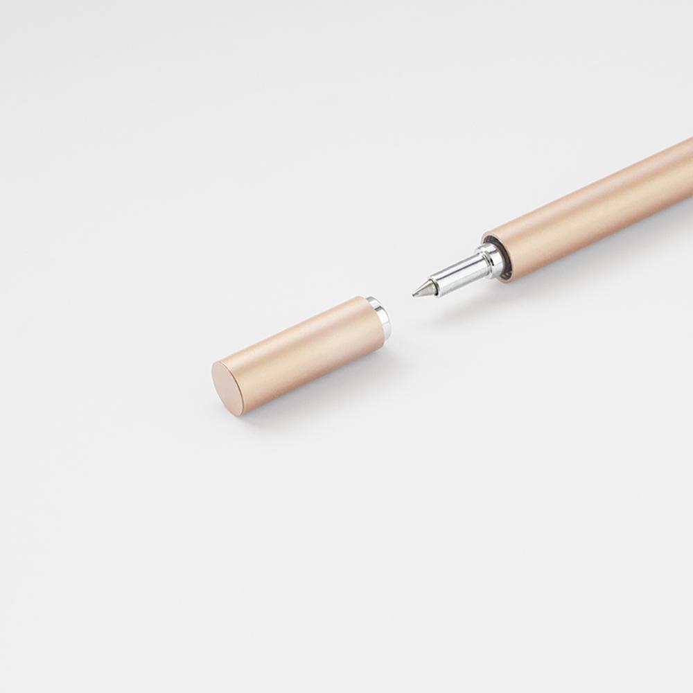 TEN 磁吸式鋁合金鋼珠筆 - 玫瑰金