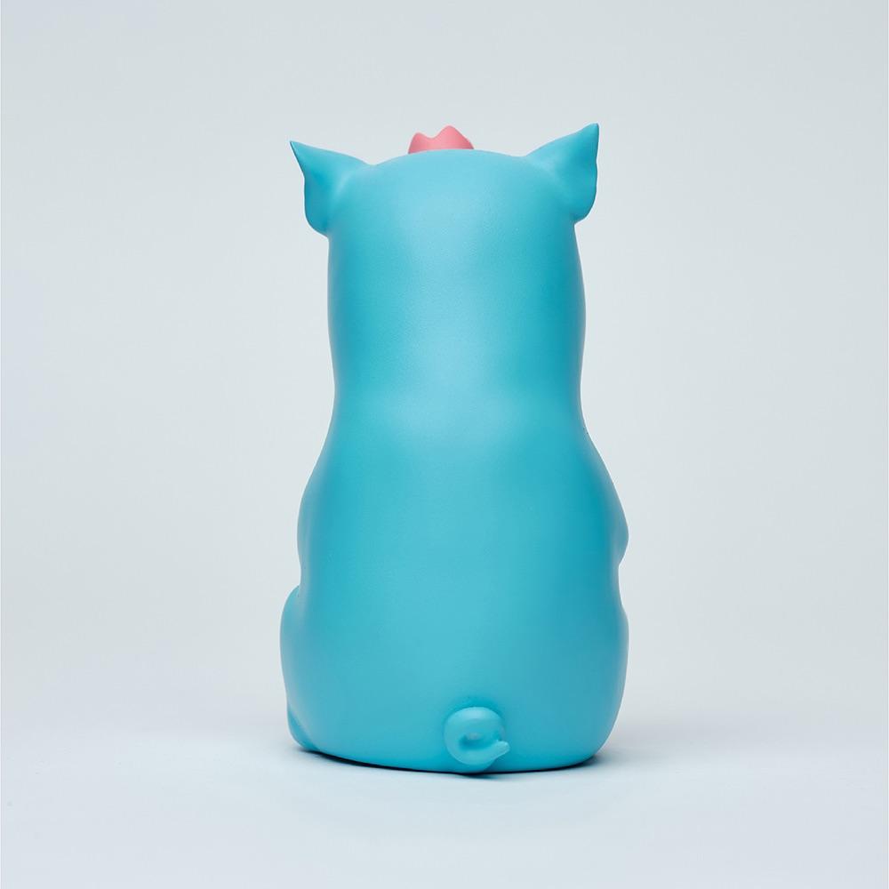 水果硬糖|藝術玩偶雕塑-糖豬Candy Piggy(藍)
