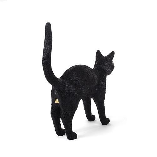 Seletti|貓咪造型燈(黑)