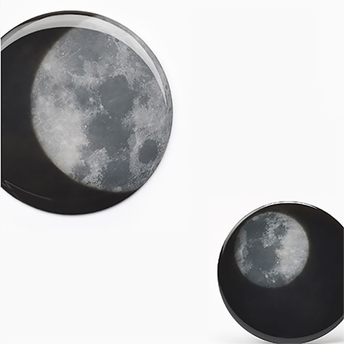 SPEXTRUM|月亮感溫圓缺杯墊(4入組)