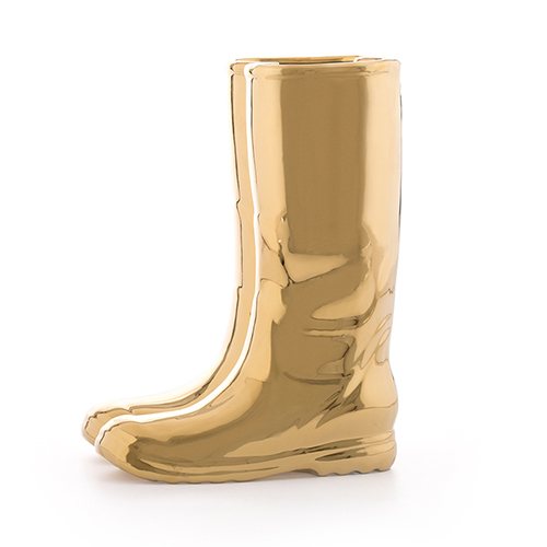 Seletti|Limited Edition Gold Porcelain Rain靴子傘桶
