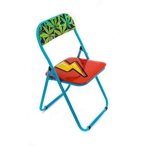 Seletti|普普風折疊椅(閃電)