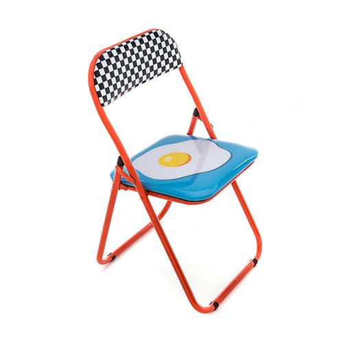 Seletti|普普風折疊椅(雞蛋)