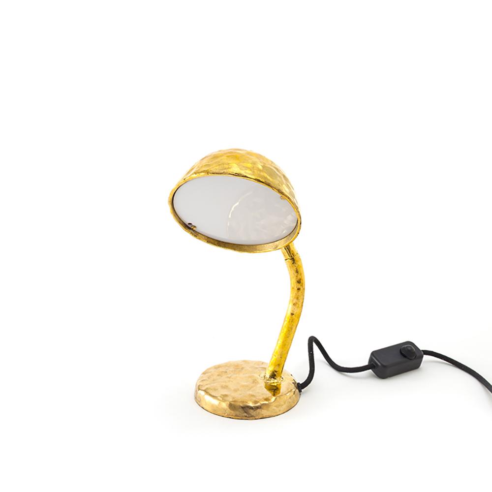 Seletti|金色礦工桌燈