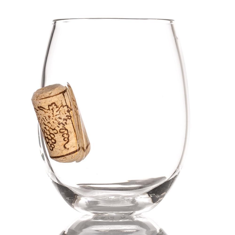 STUCK IN GLASS|玻璃紅酒杯 - CORK款