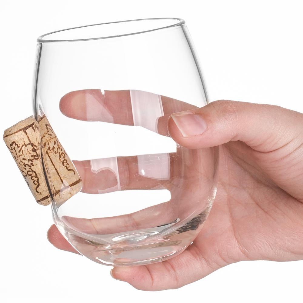 STUCK IN GLASS 玻璃紅酒杯 - CORK款