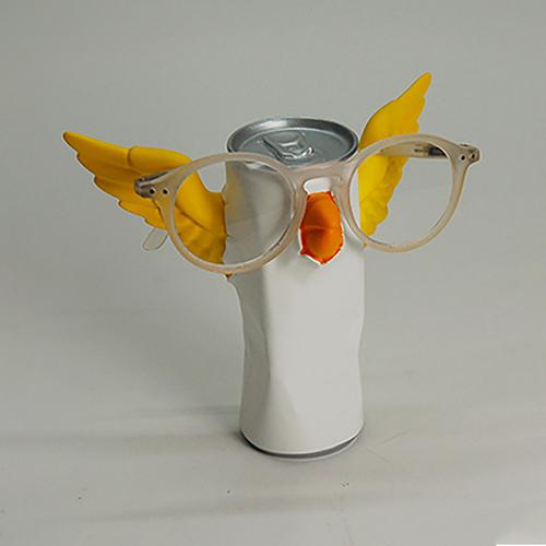 Antartidee|易拉罐小鳥造型眼鏡架(白)