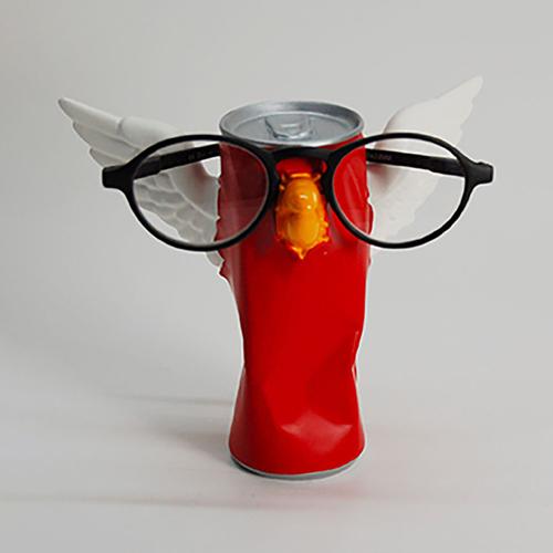 Antartidee 易拉罐小鳥造型眼鏡架(紅)