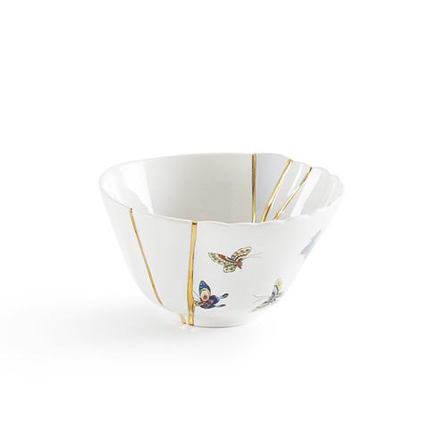 Seletti|金色裂紋造型碗