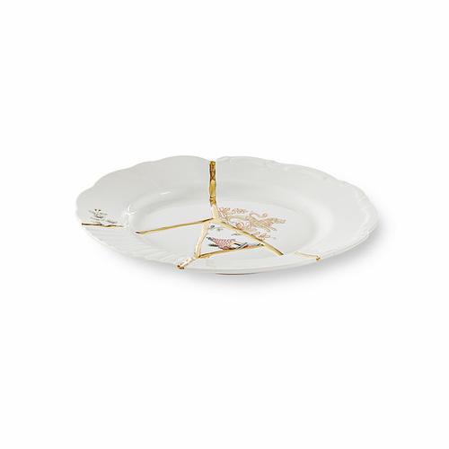 Seletti|金色裂紋造型餐盤