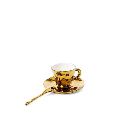 Seletti 鍍金造型咖啡杯