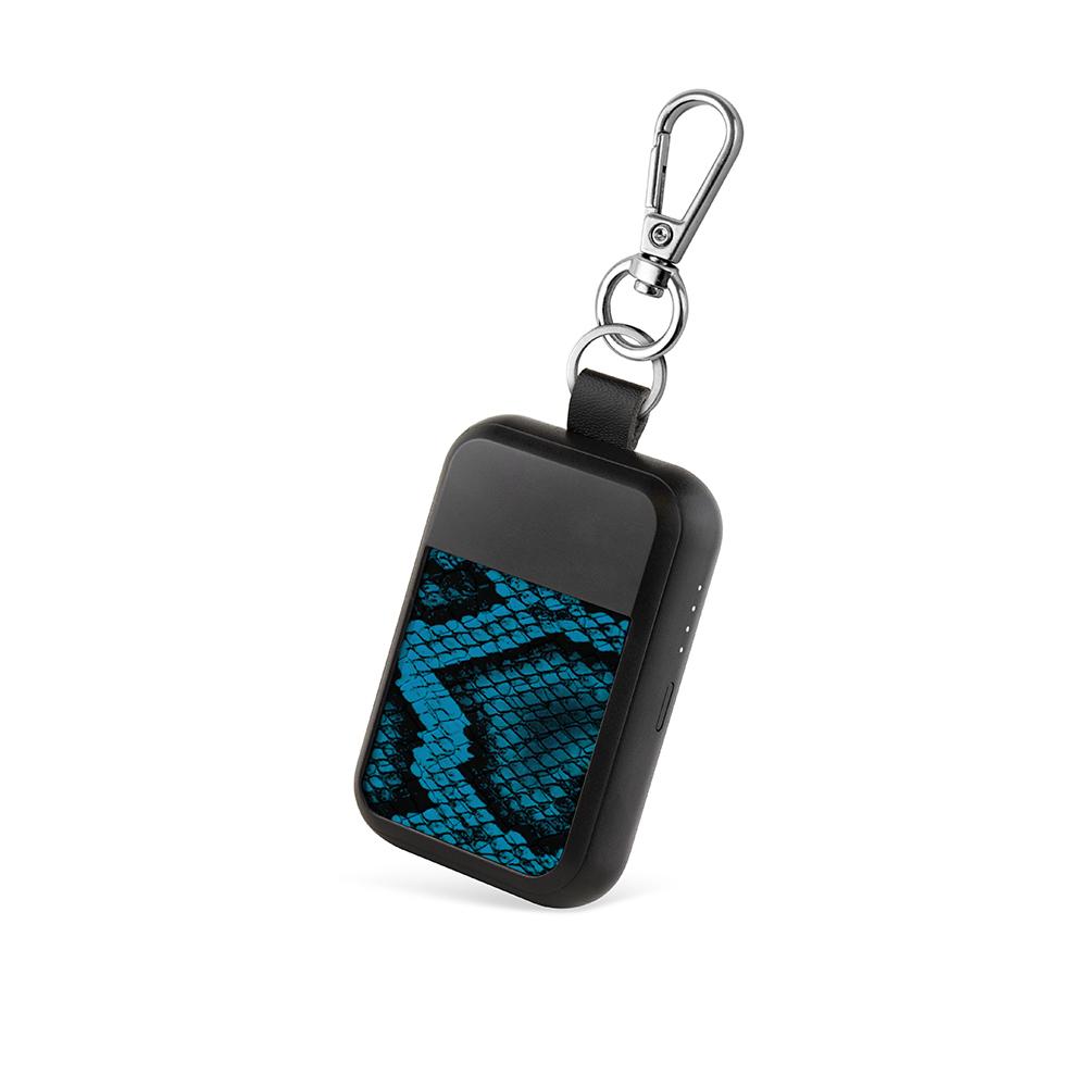 WIPOP|無線充電鑰匙扣(KEYWI Premium-蛇皮藍)
