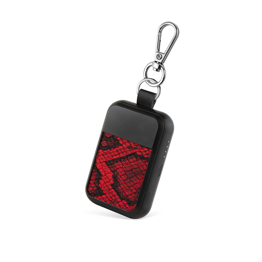 WIPOP|無線充電鑰匙扣(KEYWI Premium-蛇皮紅)