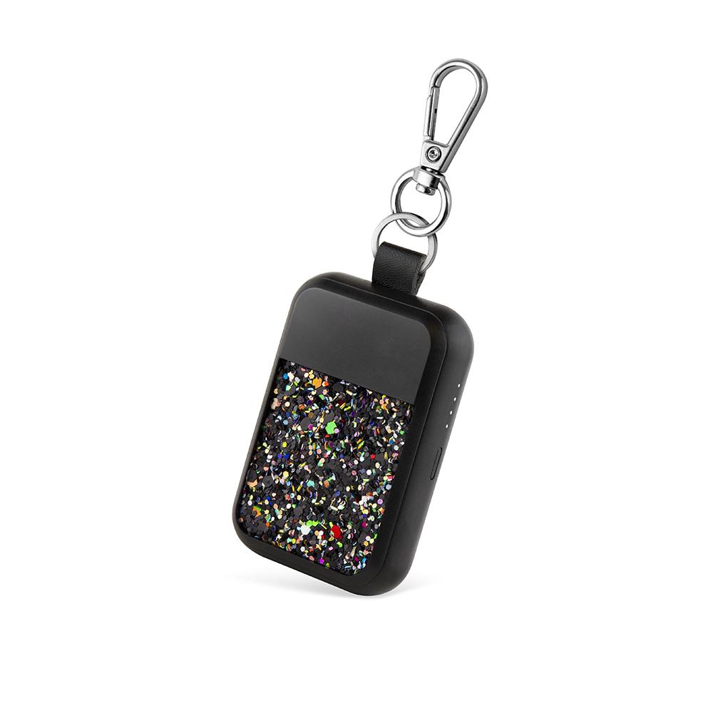 WIPOP|無線充電鑰匙扣(KEYWI Premium-亮片黑)