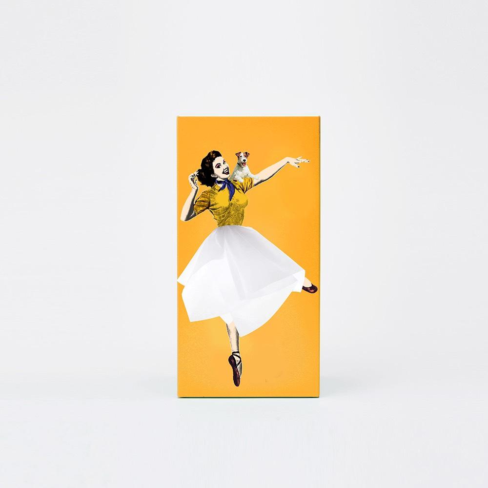 SPEXTRUM| 蓬蓬裙女郎面紙盒(黃色)