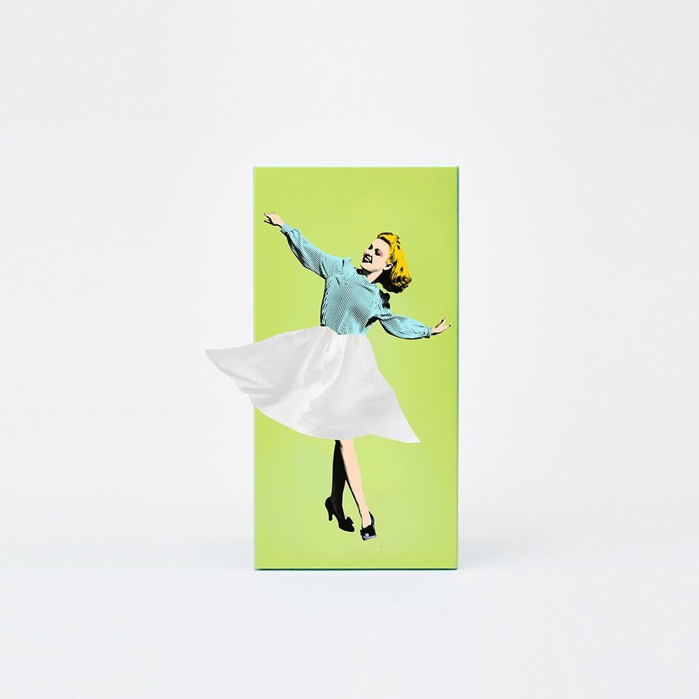 SPEXTRUM| 蓬蓬裙女郎面紙盒(綠色)