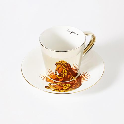 Luycho|鏡面倒影動物圖案咖啡杯-獅子