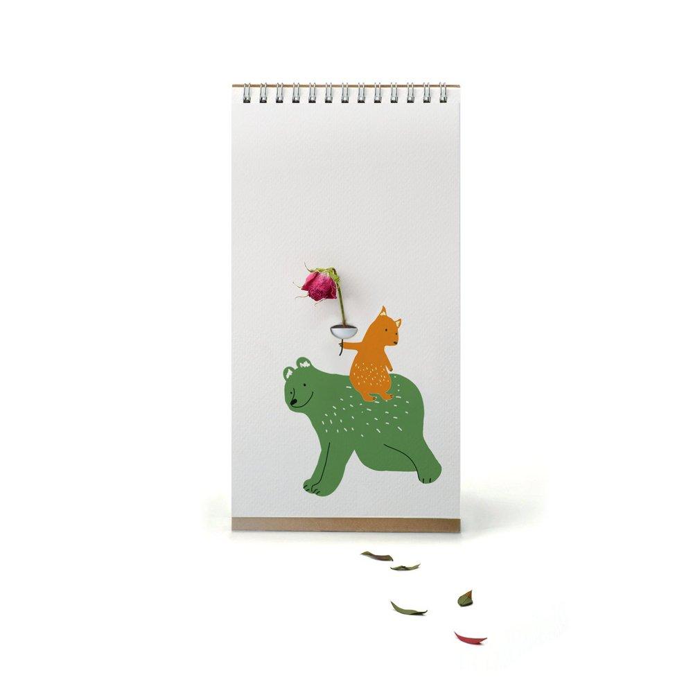 SPEXTRUM|翻頁花器 - 彩色動物