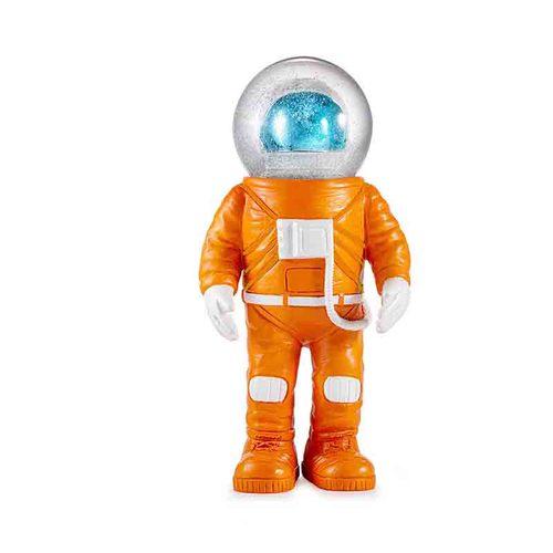 Donkey 橘色太空人造型水晶球擺飾(電鍍藍面罩-大)