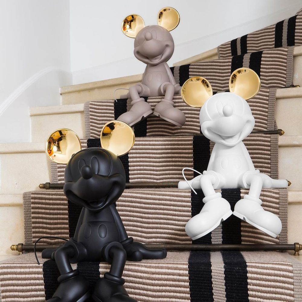 Leblon Delienne|米奇坐姿造型雕塑金耳限量版(三色-黑/白/灰褐)