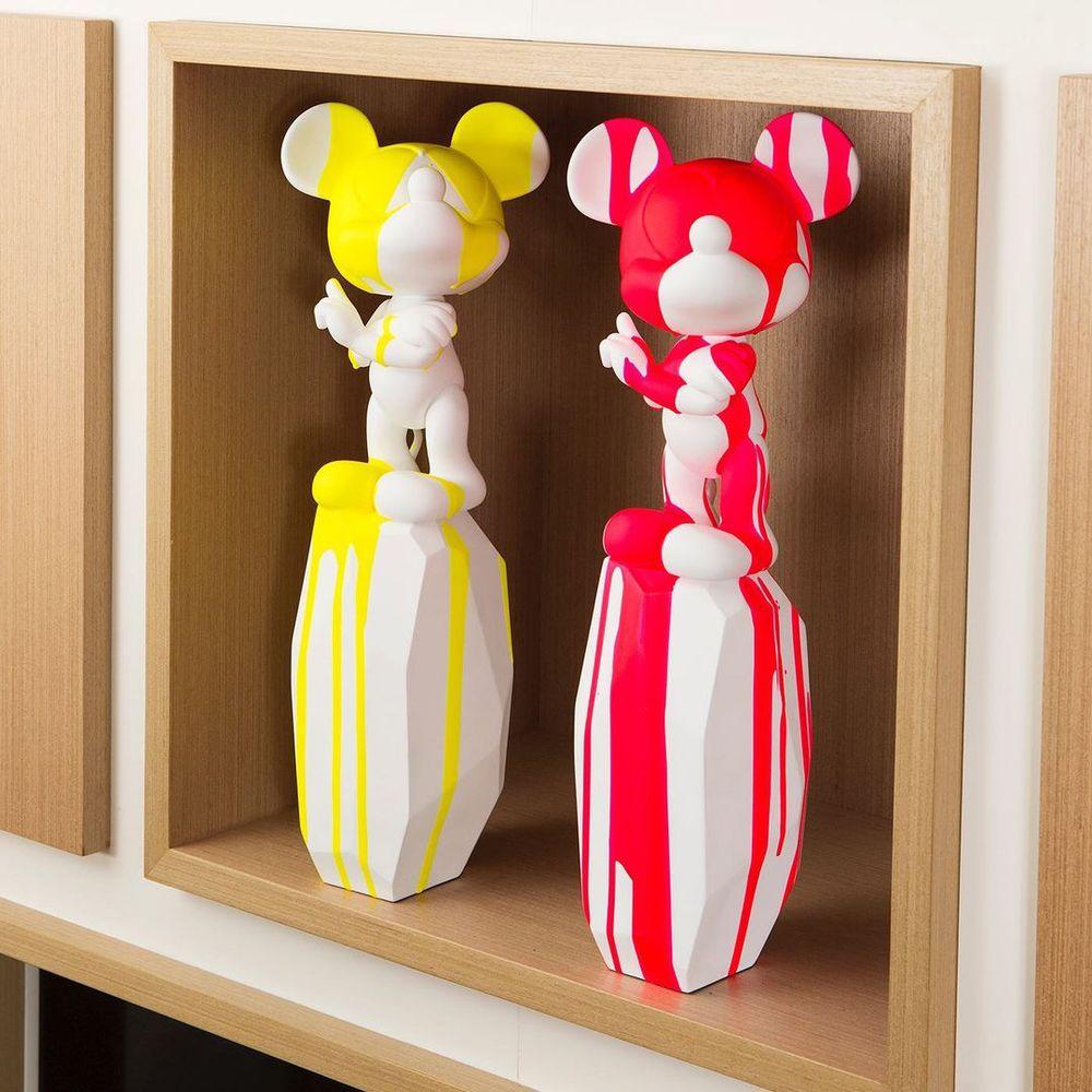 Leblon Delienne|米奇立柱造型雕塑潑漆限量版中型(七色)