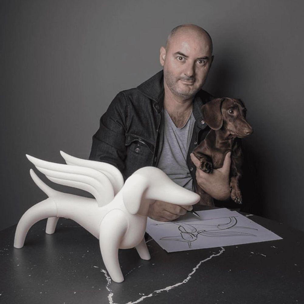 Leblon Delienne|幸運飛天狗造型雕塑(黑/白)