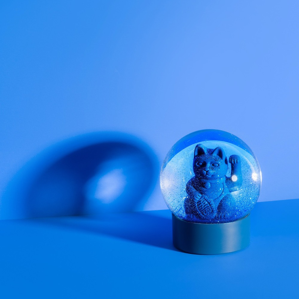 Donkey|招財貓水晶球擺飾(藍)
