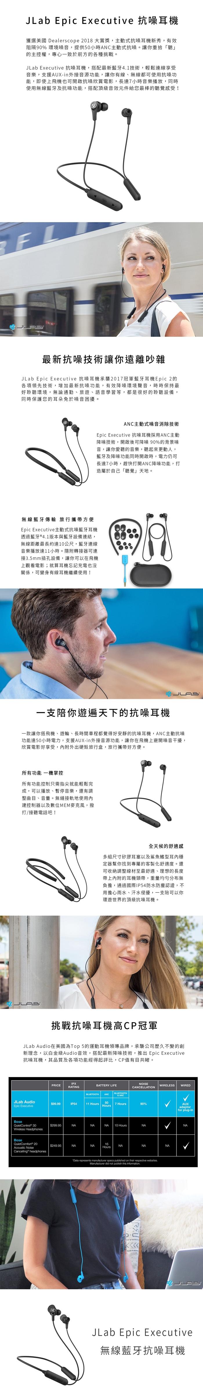 JLab|Epic Executive 抗噪耳機